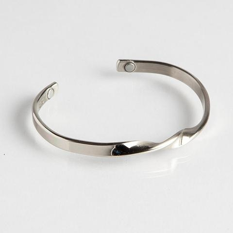 Magnetic Cuff Bracelet - Silver Infinity (711M) Full Size Image #1