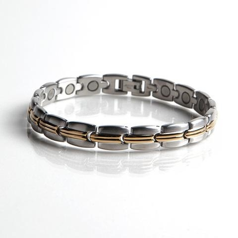 Magnetic Stainless Bracelet With Gold Plating Gs 45000