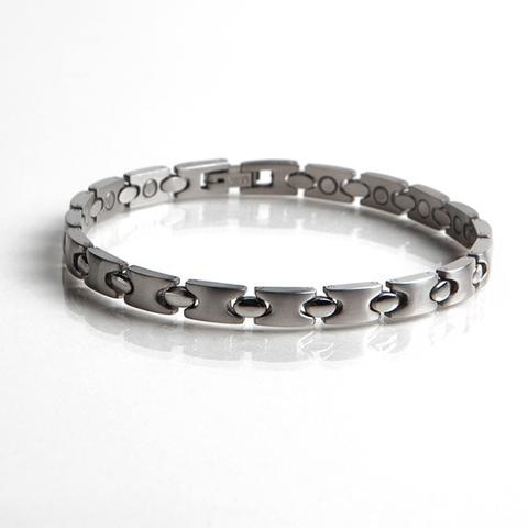 Magnetic Stainless Steel Bracelet with Gold Plating (L3) Full Size Image #1