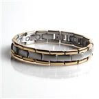 Magnetic Stainless Bracelet with Gold Plating (L44) Thumbnail #1