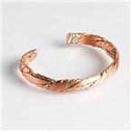 Magnetic Cuff Bracelet - Copper Sage Brushed (568) Thumbnail #1