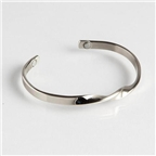 Magnetic Cuff Bracelet - Silver Infinity (711M) Thumbnail #1