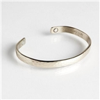 Magnetic Cuff Bracelet - Textured Silver (753M) Thumbnail #1