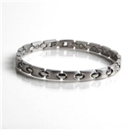 Magnetic Stainless Steel Bracelet with Gold Plating (L3) Thumbnail #1